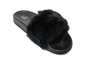 Kali Footwear Women's Flip Flop Faux Fur
