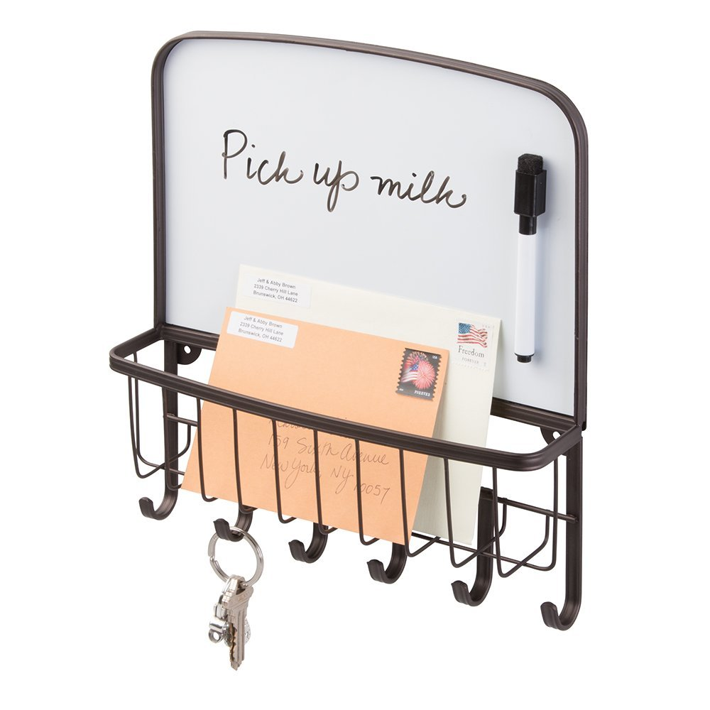 key holder best door side wall racks organizer mail holder dry erase board