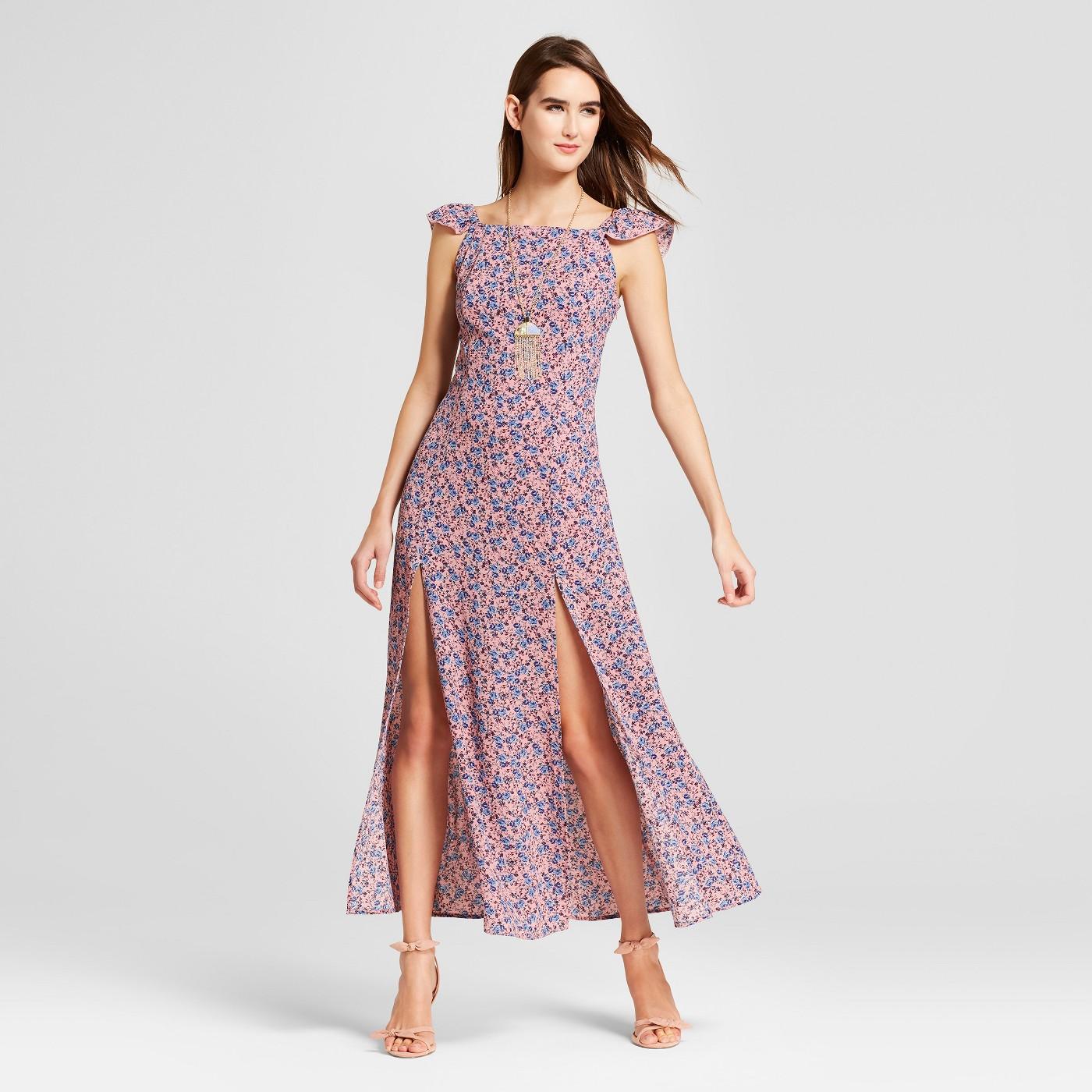 maxi dresses best under 35 summer target ruffle sleeves cut out