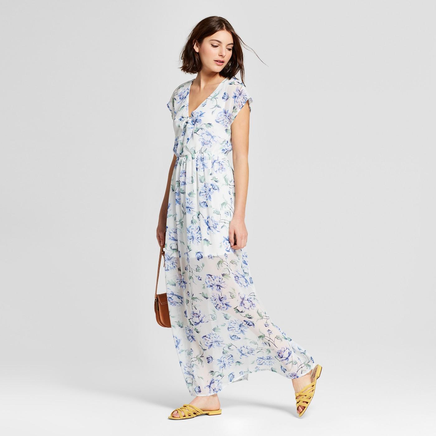maxi dresses best under 35 summer target white floral sheer