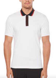 White Polo Shirt Perry Ellis