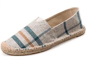 Plaid Slip-on Shoes Espadrilles