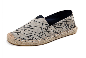 Gray Espadrille Slip On shoes