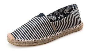 Striped Slip On Shoes Espadrilles