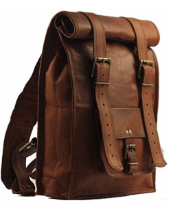 Brown Leather Backpack Men's