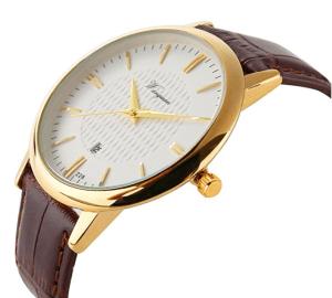 Slim Men's Watch Gold
