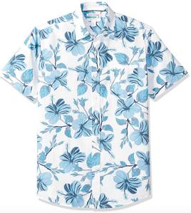 blue hawaiian shirt men's
