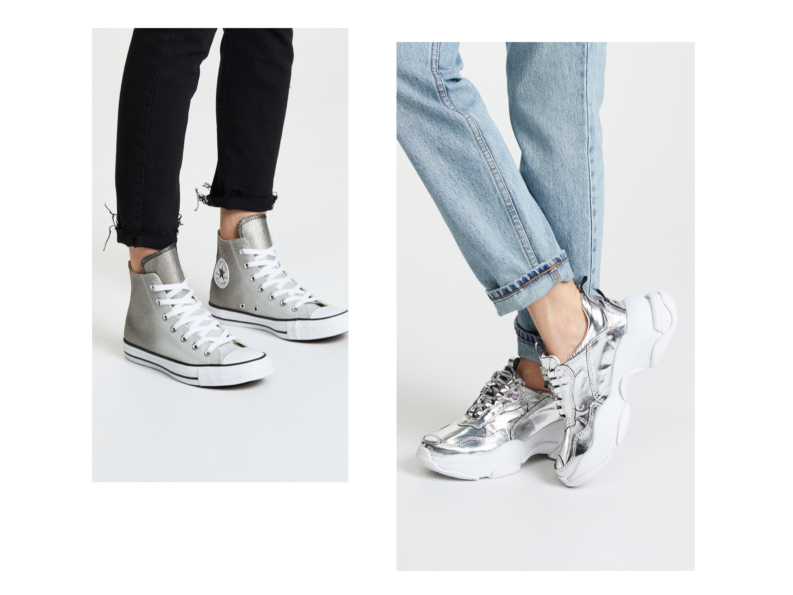 Best Silver Sneakers: Silver Shoes From