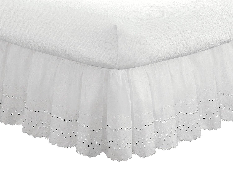 best bed skirts under 100 ruffled eyelet