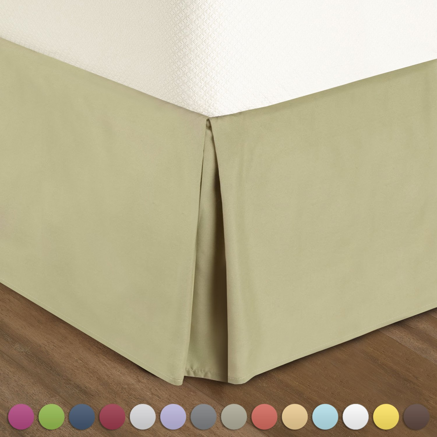 best bed skirts under 100 queen pleated