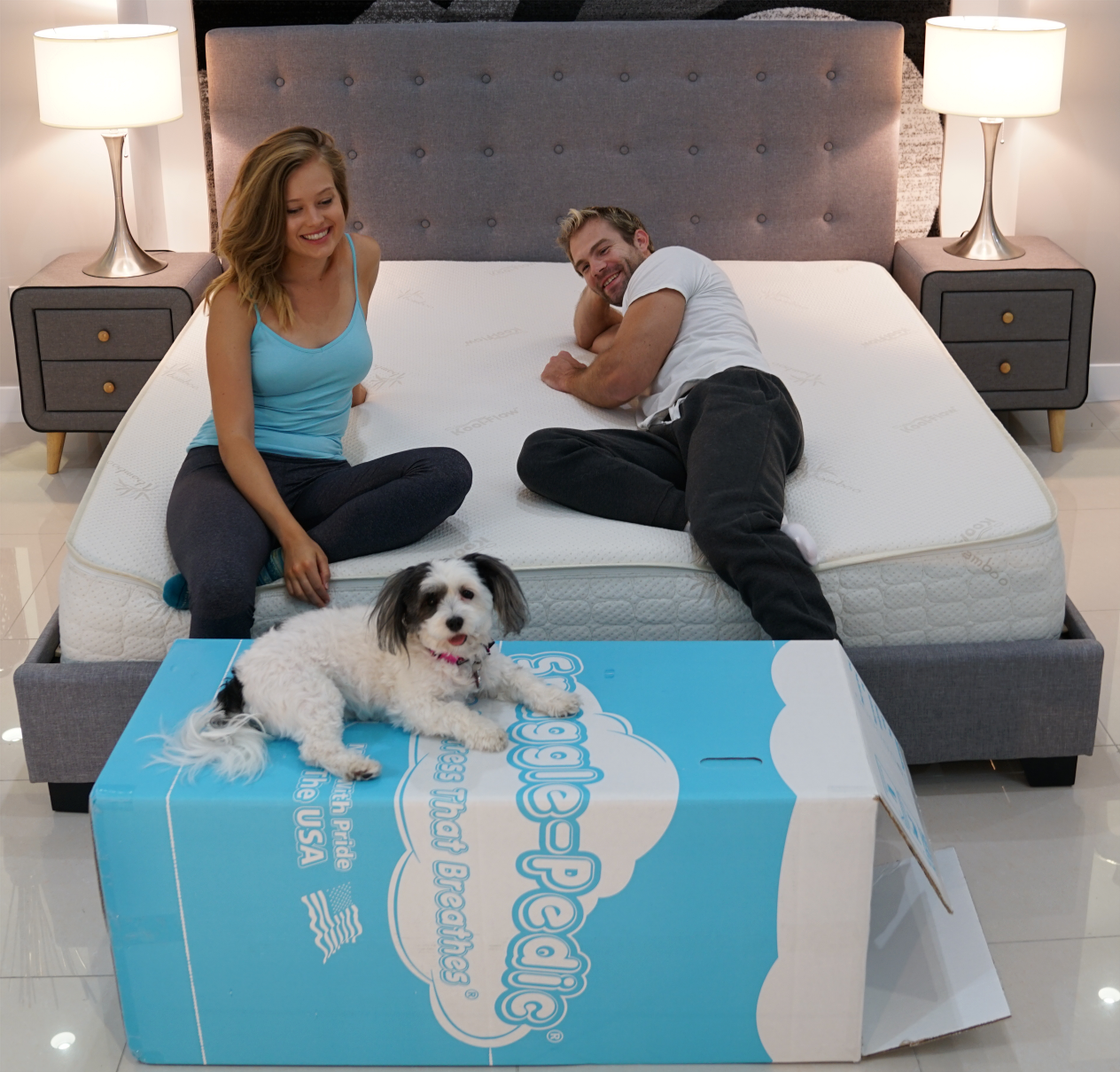 snuggle-pedic mattress review delivery
