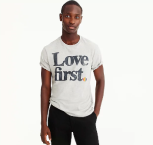 j.crew collection t-shirt pride month