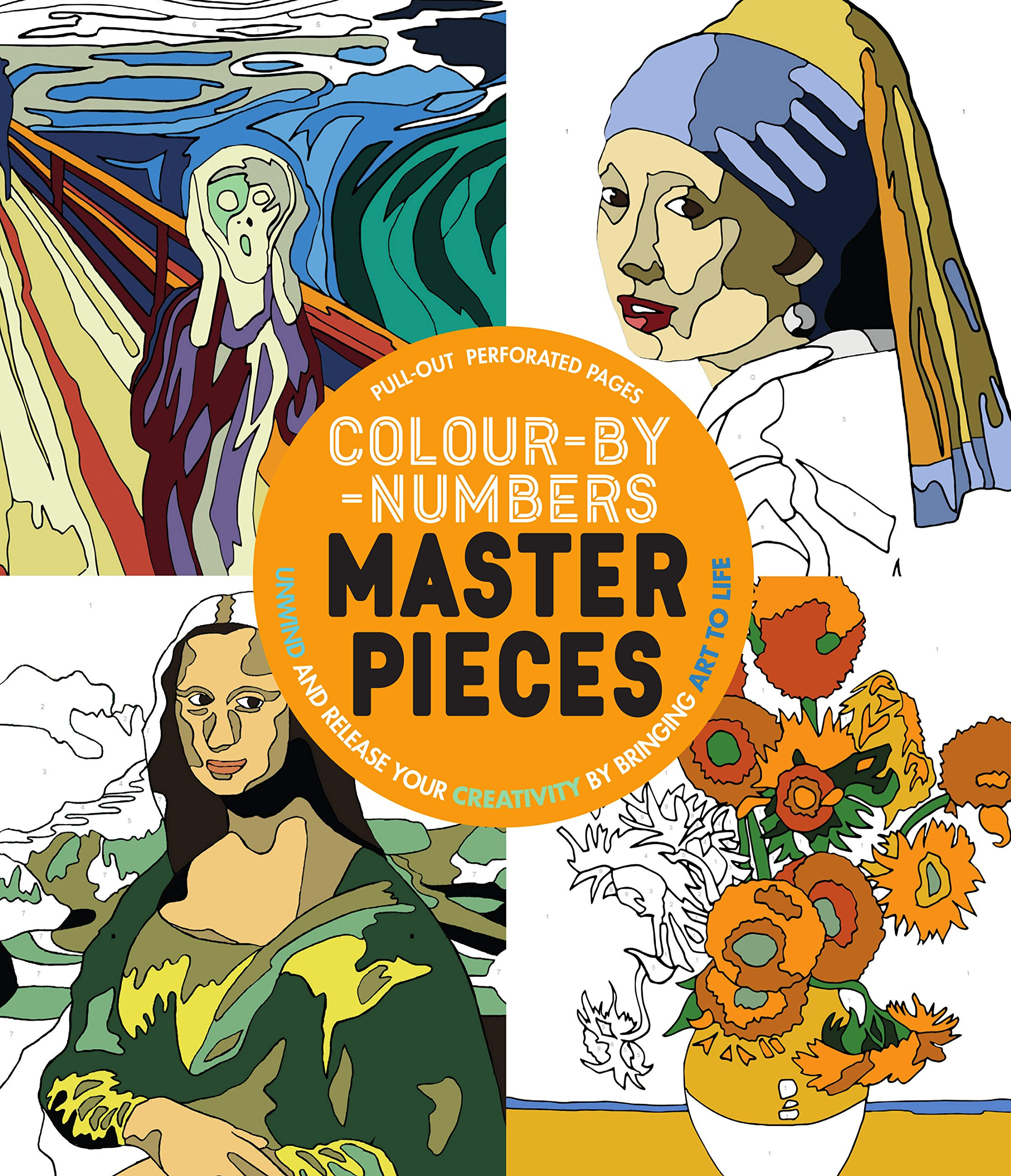 color by numbers fine art coloring book