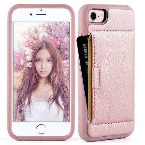 rose gold wallet phone case