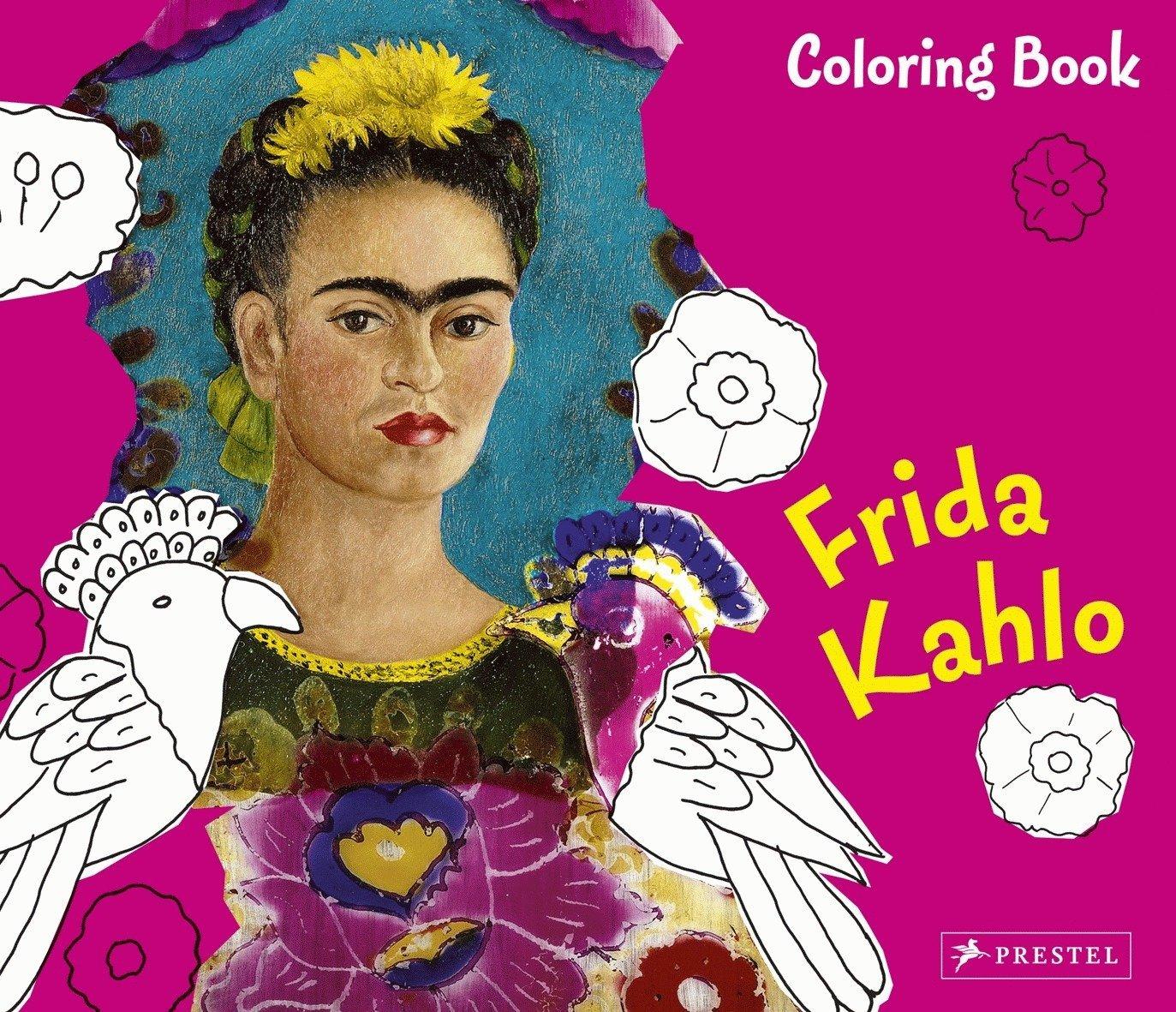 Kahlo fine art coloring book