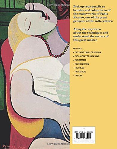 Picasso fine art coloring book