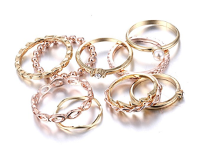 Gold Ring Set Stackable