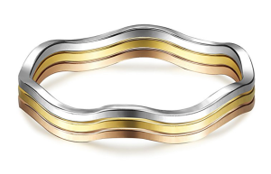 Wavy Rings Set Stackable