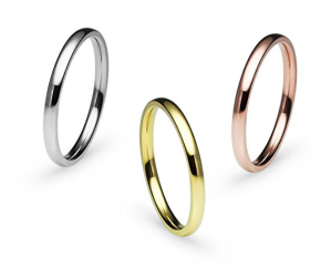 Plain Rings Band Stackable