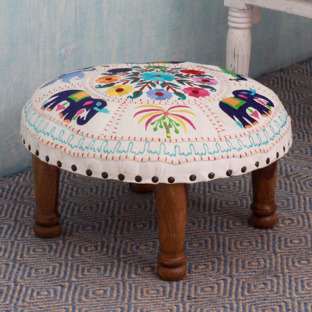 overstock sale bohemian foot stool ottoman