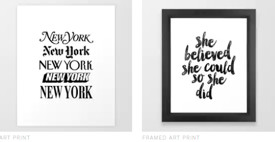 the motivated type artist prints store society6