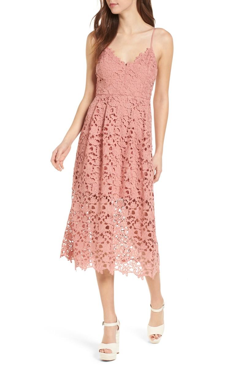 wedding guest dress under $100 nordstrom midi lace