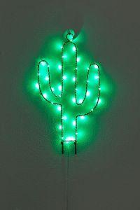 wall decor light up cactus