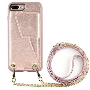 iPhone 7 plus Wallet Case with Crossbody Strap