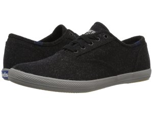 Black Wool Sneakers Keds