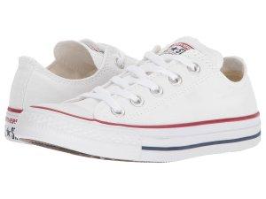 White Converse Red Stripe