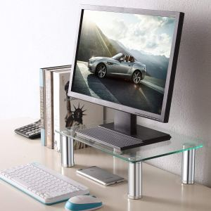 clear computer stand amazon