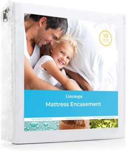 Linenspa Zippered Waterproof Breathable Protector, best mattress protector