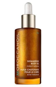argan oil moroccan beauty routine shimmering body oil moroccanoil