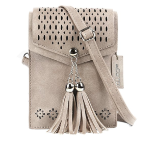 Women Small Crossbody Bag SeOSTO Tassel Cell Phone Purse