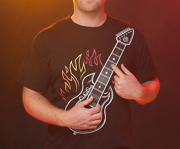 Electric guitar shirt