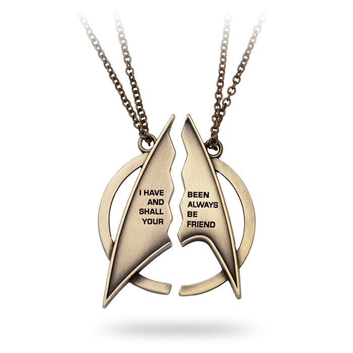 star trek necklace think geek