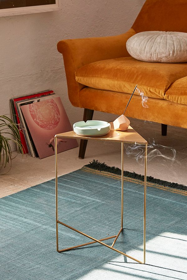 geometric triangle side end coffee tables