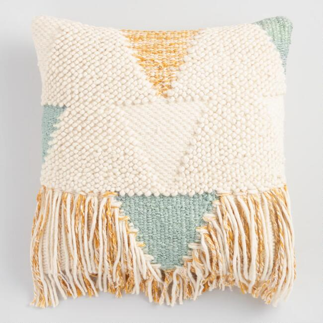 ringe pillows accent boho throw