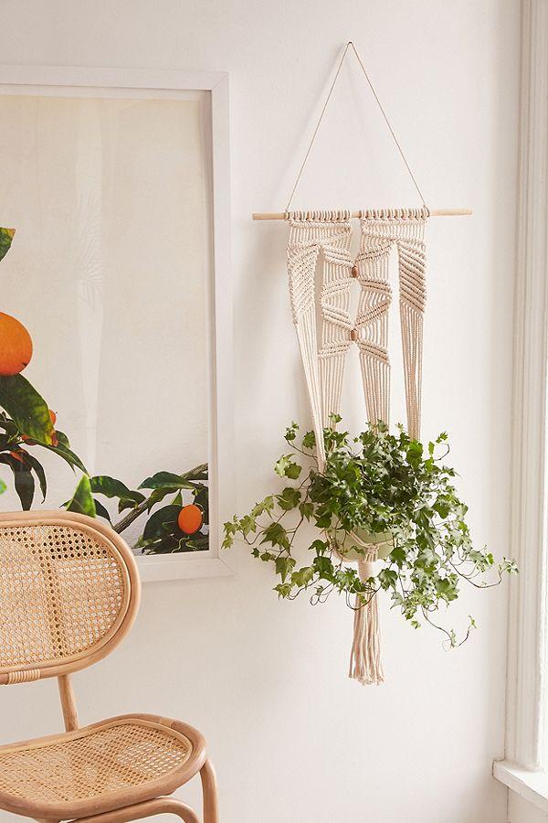macrame wall hanging planter large