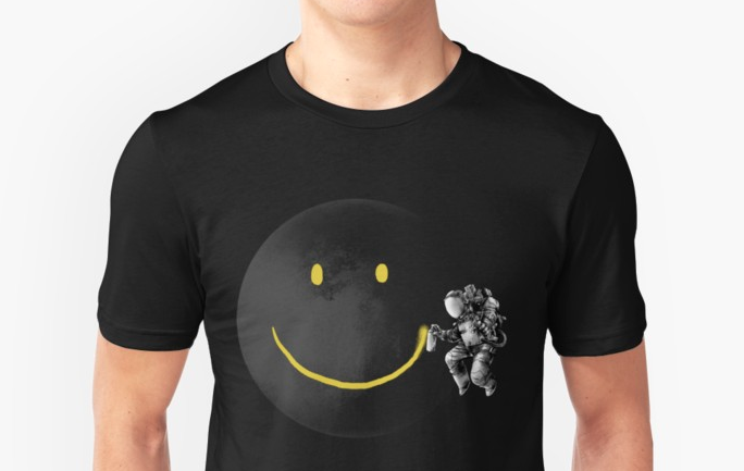 space smile t-shirt