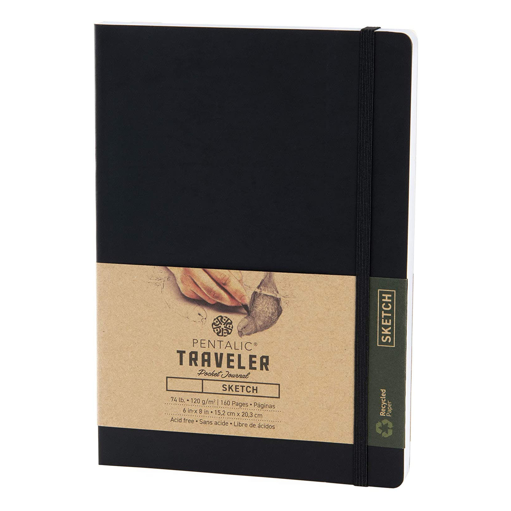 Pentalic Traveler Pocket Journal Sketch
