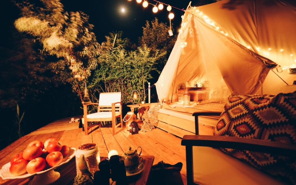 essentials for glamping camping