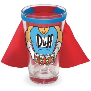 Simpsons Duffman Caped Pint Glass