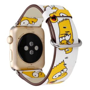 Simpsons Leather iWatch Wristband