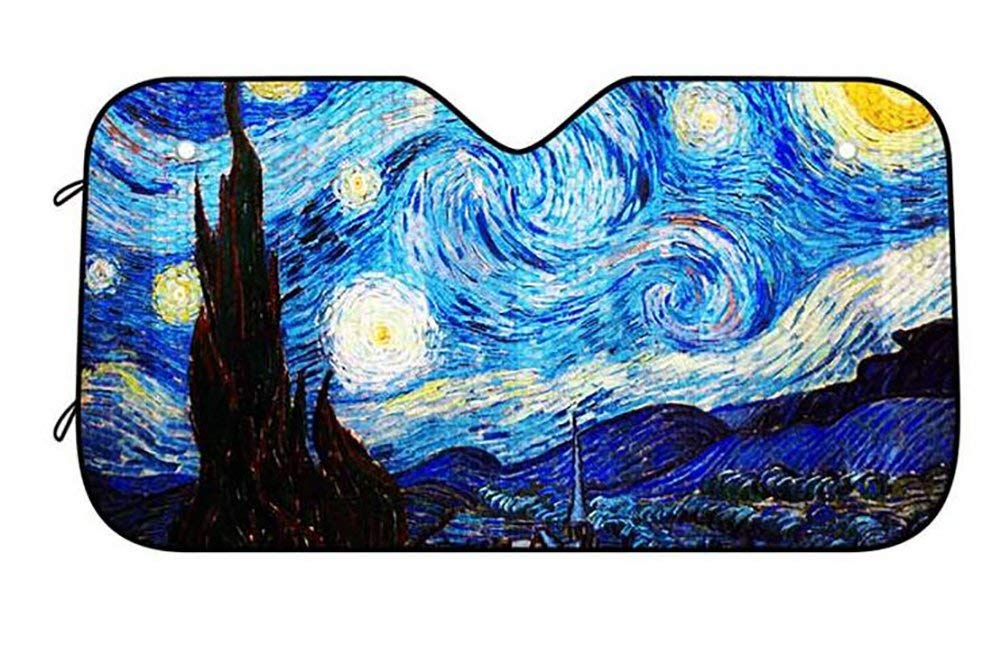 Starry Night Van Gogh Car Sun Shade