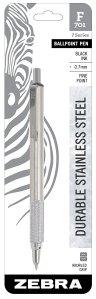 Zebra F-701 Ballpoint Stainless Steel