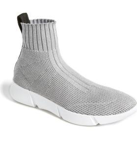 Grey Sock Sneaker Women's