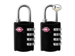 4-Digit Combination Steel Padlocks 2-pack