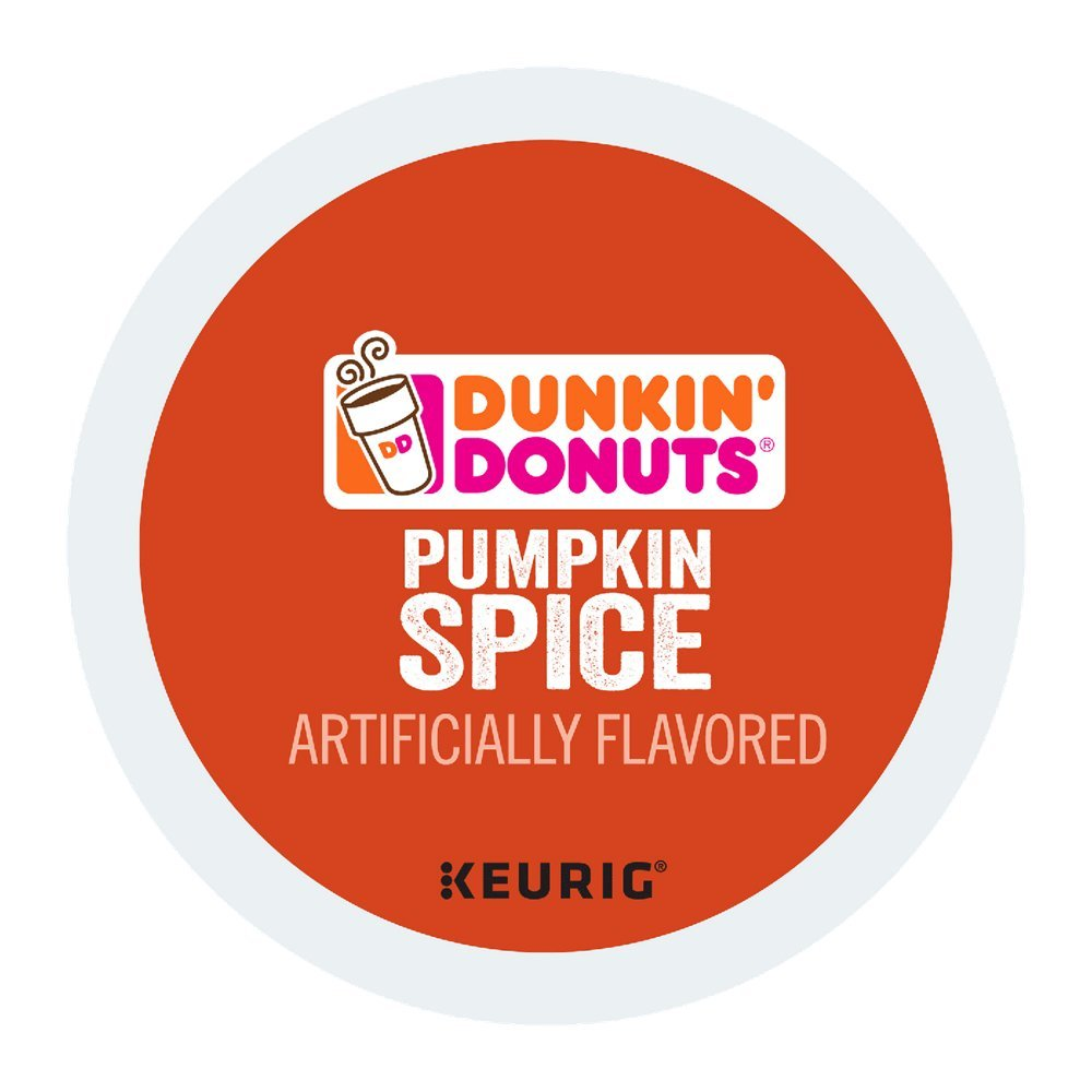 Pumpkin spice k-cup dunking