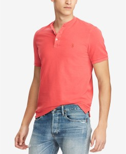 Red Henley Shirt Ralph Lauren